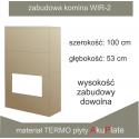 Kominek ciepły WIR-2 - płyty AkuPlate