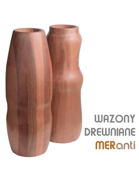 Kolekcja wazonów drewnianych Meranti