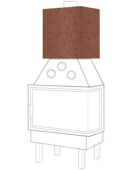 Szamotowe moduły akumulacyjne do kominka