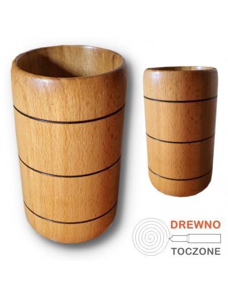 Kubki drewniane, prezentacja w sklepie