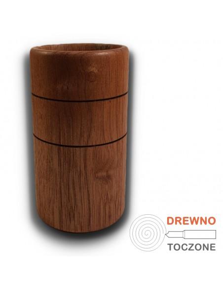 Duży kubek - wazon drewniany